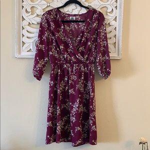 Old Navy Purple Floral Print Dress